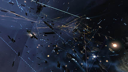 EvE Online: Coalition fleets engage Raiden and allies in Tenal.