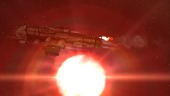 EvE Online: Sometimes when critically damaged, the sun is the easiest warp out to find