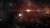 EvE Online: Space seems dark but is lit by infinite suns