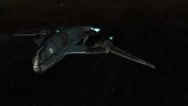 EvE Online: The Gallente Shuttle. Sleekly designed and one of my favourites