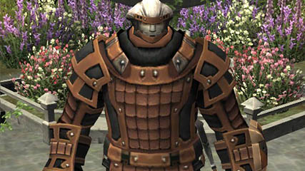 Final Fantasy XI: Quiz stood infront of a grave