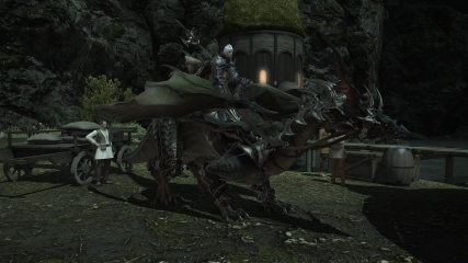Final Fantasy XIV: Anubis showing off his dragon mount
