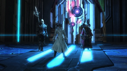 Final Fantasy XIV: Isileth, Anubis and M.Steiner prepare to face Twintania