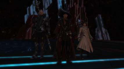 Final Fantasy XIV: Isileth, M.Steiner and Anubis ready to face the Binding Coils of Bahamut