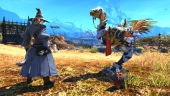 Final Fantasy XIV: M.Steiner and his Chocobo in a battle of wills