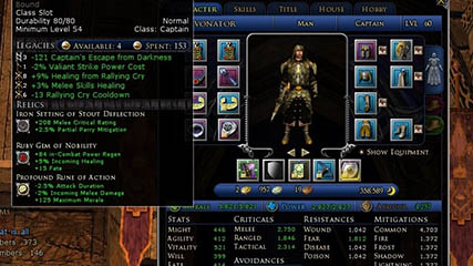 Lord of the Rings Online: Revonator's Legendary Captain's Emblem