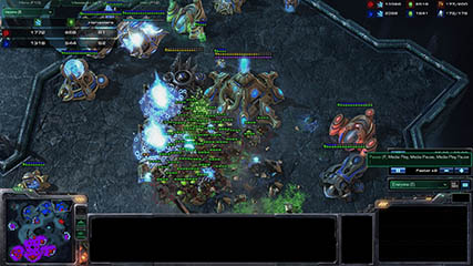 Other Games: Starcraft 2 - So many Banelings ravage MS' base
