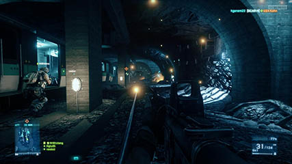 Battlefield: Mechanus & MS making their way down the metro tunnel