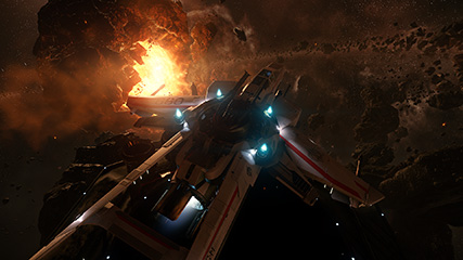 Star Citizen: MS taking his new Super Hornet for a spin