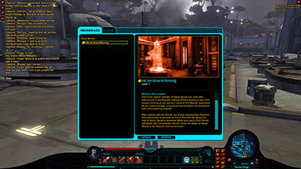 The Old Republic: Early version of the mission log [2010 Beta]