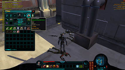 The Old Republic: Early version of the character/equipment window & item tooltips [2010 Beta]