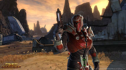 The Old Republic: Bounty Hunter Readies his Blaster