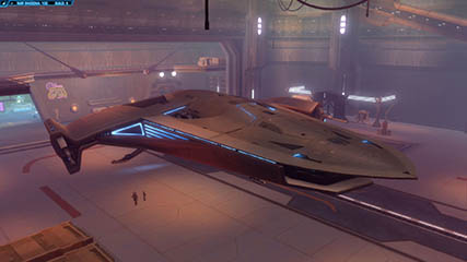 The Old Republic: The luxurious X-70B Phantom (Agent Rigby' starship)