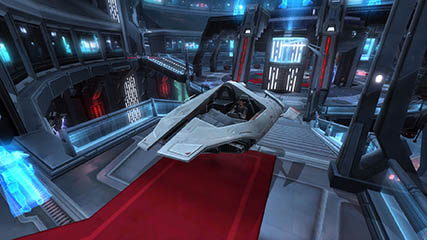 The Old Republic: Rigby - 1st SSX to lvl 50 & 1st to own a landspeeder, the Korrealis Commander (VIP Lounge)