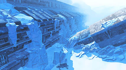 The Old Republic: Trying to reach a datacron along this wall on Hoth