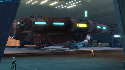 The Old Republic: MS about to board his new starship [Beta]