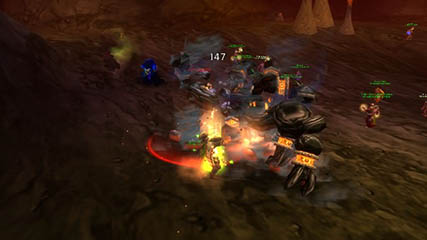 World of Warcraft EU: Garr's adds put up no fight for our hero!